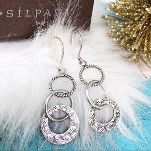 Silpada Sterling 925 Triple Threat W1616 Earrings